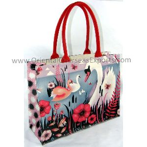 Full Color Digitally Printed Fashion Canvas Bag