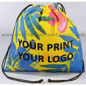 Printed Canvas Drawstring Pouch