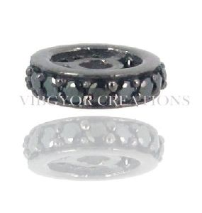 12MM 2 Line Black Spinal Spacer Black Spinal Roundles Spacer Finding Jewelry