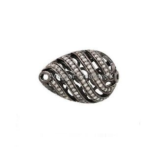 Pave Diamond Beads Spacer Balls Filigree Finding