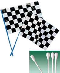 Plastic Flag Stickss and Cotton Swab Sticks