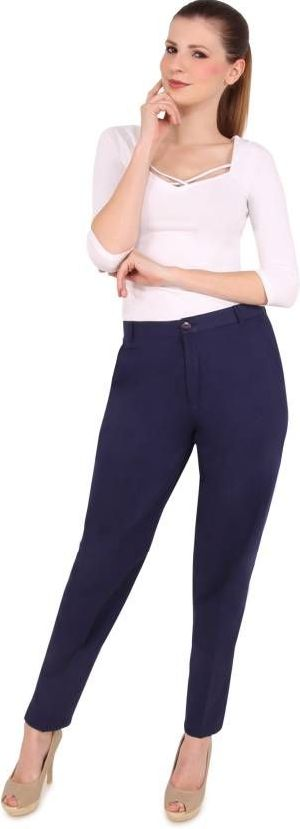 Ladies Blue Ankle Length Pant 02
