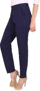 Ladies Blue Ankle Length Pant