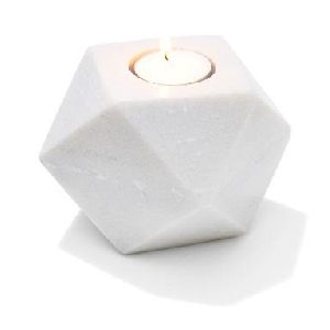 Tealight Holder Geo Marble