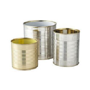 Cylindrical Tin Container 01