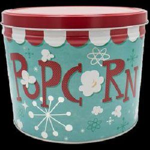 Popcorn Tin Container