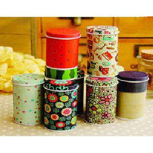 Printed Tin Container 03