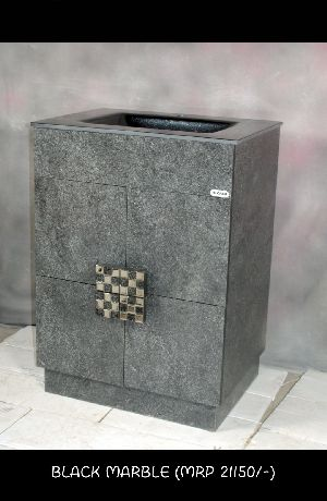 Black Marble Wash Basin Cabinet