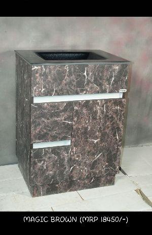 Magic Brown Wash Basin Cabinet