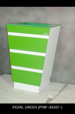 Pearl Green Side Cabinet