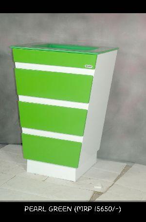 Pearl Green Side Cabinet