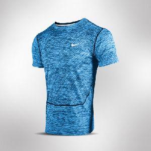 Blue Mens DRI-Fit Shirt