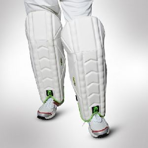White Cricket Wicket Keeping Pads