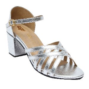 Silver Cross Strap Sandals