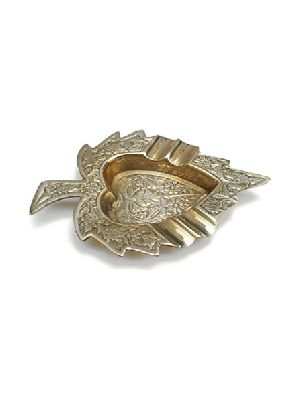 Brass Leaf Ashtray