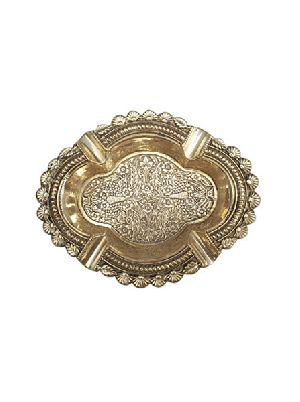 Brass Oval Ashtray