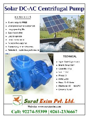 1Hp Solar Centrifugal Pump