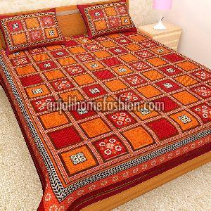 Bagru Print Bed Sheet 04
