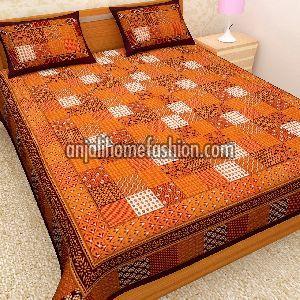 Bagru Print Bed Sheet 05