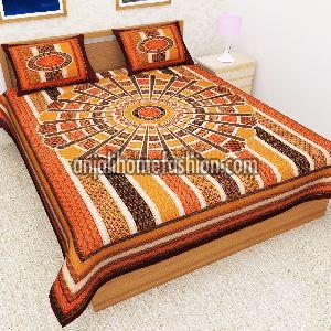 Bagru Print Bed Sheet 06