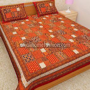 Bagru Print Bed Sheet 07