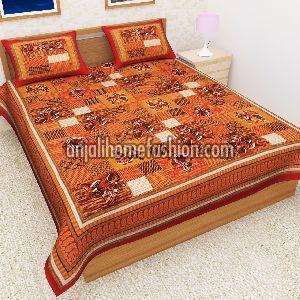 Bagru Print Bed Sheet 08