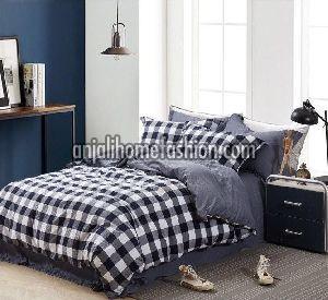 Check & Stripe Bed Sheet 01