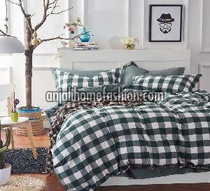Check & Stripe Bed Sheet 02