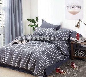 Check & Stripe Bed Sheet 06