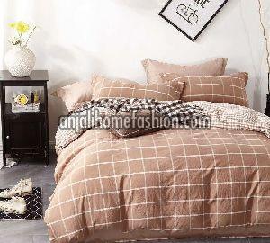 Check & Stripe Bed Sheet 08