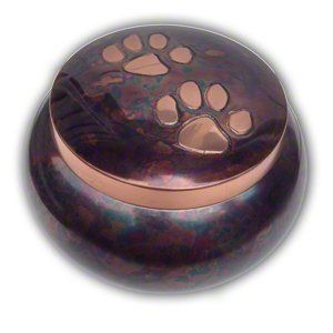 Brass Cremation Urn for Pet Ash