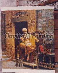 Reproduction of orientalist portrait painting