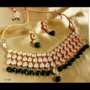 Party Wear Stone & Kundan Necklace Set