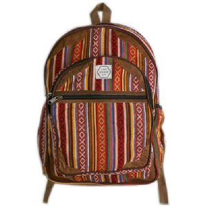 Printed Cotton Backpack