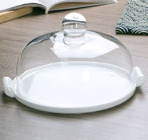 Bone China Dinner Plate with Glass Cover