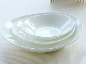 Bone China Oval Serving Bowls 02