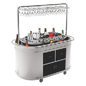 Stainless Steel Bar Trolley 03