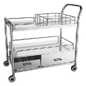 Stainless Steel Multi Utility Trolley 03