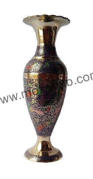 Brass Floor Vase