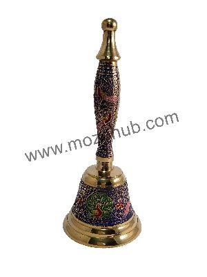 Navyblue Brass Hand Bell