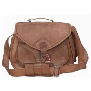 Vintage Brown Genuine Leather DSLR Camera Bag