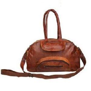 Vintage Brown Genuine Leather Sports & Gym Duffel Bag