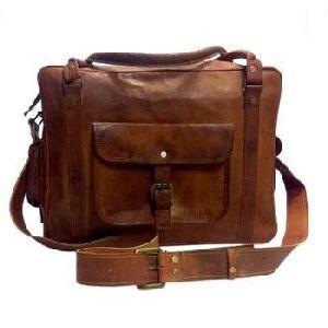 Vintage Brown Genuine Leather Traveling Luggage Bag