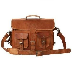 Vintage Brown Genuine Leather Mac Book  Messenger Bag