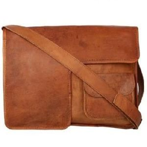 Vintage Brown Leather iPhone Messenger Bag