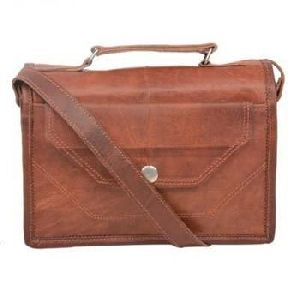 Vintage Brown Leather iPad Messenger Bag
