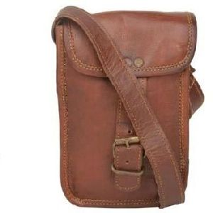 Vintage Brown Genuine Leather Regular Messenger Bag