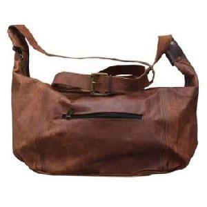 Vintage Brown Genuine Leather Shopping Sling Bag