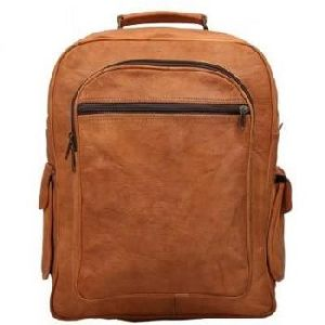 Vintage Brown Genuine Leather Mac Book Backpack