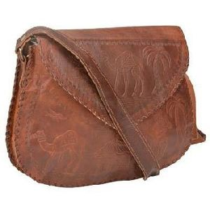 Vintage Brown Genuine Leather Regular Cross Body Bag